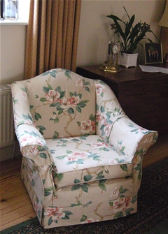 armchair with loose covers
