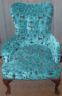 Delicieux Chair Upholstered In Designer Fabric